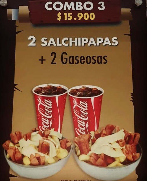 Dos salchipapas