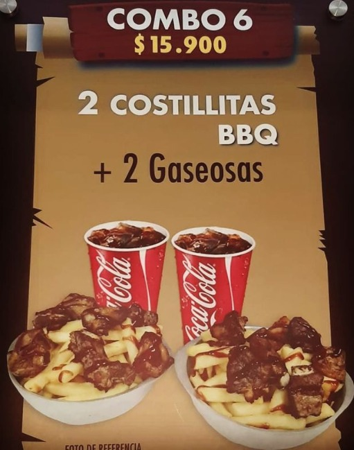 Dos costillas bbq